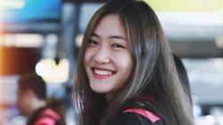 """""""Hot girl"""" bóng chuyền Trần Việt Hương: Cao 1m78, thiếu úy tuổi 21"""