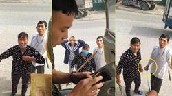 """Cặp vợ chồng ở Hà Nam dọa """"cởi đồ"""", cầm đá và cán chổi bắt tài xế trả 100 nghìn tiền đỗ xe"""