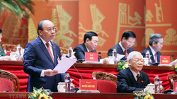 Ảnh: Ngày làm việc thứ ba Đại hội lần thứ XIII của Đảng
