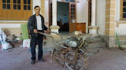 Thái Nguyên: Một ông nông dân sáng chế ra chiếc máy cày mini, vừa cày bừa vừa bón phân tự động, tiện lợi bất ngờ