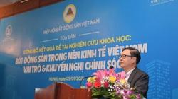 Công bố kết quả nghiên cứu đề tài khoa học về bất động sản trong nền kinh tế Việt Nam