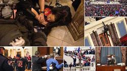 Những hình ảnh sốc về cảnh hỗn loạn trong tòa nhà Quốc hội Mỹ ngày xác nhận kết quả bầu cử
