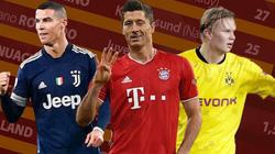 Chiếc giày Vàng châu Âu: Lewandowski đứng đầu, Salah đuổi kịp Ronaldo