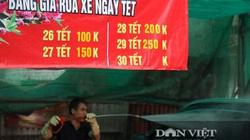 30 Tết tranh thủ ở Hà Nội rửa xe kiếm hàng chục triệu đồng