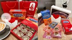 """Chocolate hình bao cao su, iPhone """"hút"""" khách dịp Valentine 2021"""