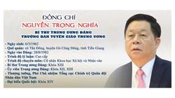 Infographic: Tiểu sử tân Trưởng Ban Tuyên giáo Trung ương Nguyễn Trọng Nghĩa