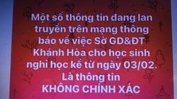 Covid-19: Cảnh báo một số thông tin thất thiệt ở Khánh Hòa