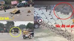 """Clip: Chạy xe máy tốc độ """"bàn thờ"""", thanh niên ở Vĩnh Phúc đâm thẳng vào xe tải"""
