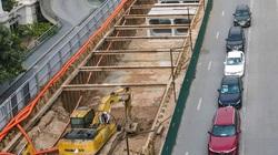 Hà Nội: Gấp rút thi công cống ngầm để tiến hành đào hầm chui 700 tỷ đồng