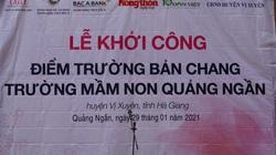 Hà Giang: Trẻ em vùng cao Bản Chang sắp có phòng học mới