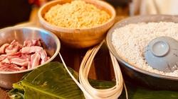Mẹ Việt ở Pháp năm nào cũng gói bánh chưng ăn Tết để con giữ nét Việt