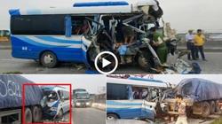 Xót xa cảnh người thân gào khóc trong vụ xe khách đấu đầu xe tải khiến 3 người chết ở Hòa Bình