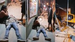 Phá dỡ nhà cẩu thả, tường gạch đè trọng thương người đi đường tại Hà Nội
