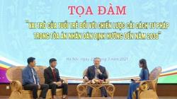 Ủy viên Bộ Chính trị Nguyễn Hòa Bình đối thoại với tuổi trẻ Tòa án nhân dân Tối cao