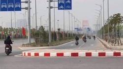 Khối bê tông nằm giữa đường ở Hải Phòng: Sở GTVT yêu cầu chủ đầu tư khẩn trương xử lý