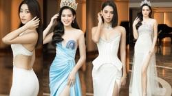 4 Hoa hậu quyến rũ hút mắt nhờ váy xẻ cao, khoét lưng táo tạo: Lương Thùy Linh, Đỗ Thị Hà...