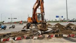 Hải Phòng: Sau phản ánh của Dân Việt, khối bê tông chắn ngang giữa đường đã bị phá bỏ