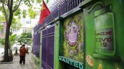Ấn tượng với hình ảnh căn biệt thự trang trí phòng chống dịch Covid-19 tại Hà Nội