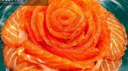 Lạ miệng với món cá hồi muối, màu đỏ đẹp, vị đậm đà