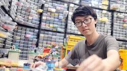 """Chàng trai Việt """"đóng"""" tàu Hoàng Sa, Trường Sa từ mô hình Lego, tri ân ngư dân bám biển"""