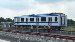 TP.HCM: Cận cảnh lắp đặt đoàn tàu metro tại depot Long Bình