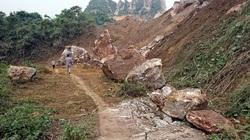 Thái Nguyên: 1 tuyến đường bị vùi lấp do sạt lở mỏ đá Lân Đăm 2