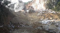 Thái Nguyên: Yêu cầu tạm dừng hoạt động 2 mỏ đá khai thác gây sạt lở