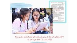 Hướng dẫn chi tiết cách ghi phiếu đăng ký thi tốt nghiệp THPT năm 2021