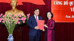 Công bố Quyết định của Bộ Chính trị với tân Bí thư Tỉnh ủy Nam Định