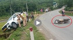 Clip: Phóng nhanh khuất tầm nhìn, nam thanh niên tông thẳng vào xe bán tải