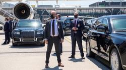 Hình ảnh dàn xe, nhân viên an ninh cực chất tháp tùng, bảo vệ Tổng thống Joe Biden và Putin tại Thụy Sĩ