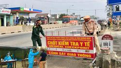 Quảng Ngãi: Dừng hoạt động tuyến vận tải Đà Nẵng, tái lập các chốt kiểm soát y tế