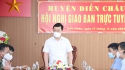 Chủ tịch tỉnh Nghệ An cảm ơn Bộ Tư lệnh Quân khu 4 điều động hàng trăm cán bộ, chiến sĩ giúp chống dịch