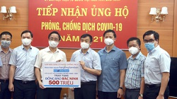 CLB báo chí Bắc Ninh tại Hà Nội và VOV trao tặng 1 tỷ đồng giúp Bắc Ninh, Bắc Giang chống dịch Covid-19
