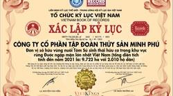 Tập đoàn Thủy sản Minh Phú lập kỷ lục vùng nuôi Tôm sú sinh thái hữu cơ rừng ngập mặn lớn nhất Việt Nam