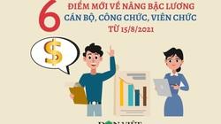 Infographic: 6 quy định mới về nâng bậc lương cán bộ, công chức, viên chức áp dụng từ 15/8