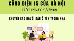 Từ 0h ngày 19/7, Hà Nội cho phép người dân ra ngoài trong trường hợp nào?