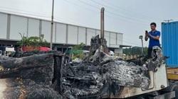 Hải Dương: Xe ô tô đầu kéo bốc cháy ngùn ngụt trên QL5, toàn bộ đầu xe bị thiêu hủy
