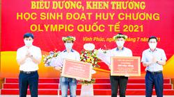 """Một tỉnh thưởng """"khủng"""" - hơn 1 tỷ đồng cho 5 thầy, trò có giải tại Olympic quốc tế"""