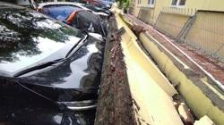 """Cận cảnh 13 chiếc ô tô bị """"bẹp đầu"""" do bức tường bê tông ngay sát trường mầm non sập xuống"""
