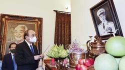 Chủ tịch nước và các Ủy viên Bộ Chính trị, Ban Bí thư dâng hương tưởng niệm Ngày sinh Đại tướng Võ Nguyên Giáp