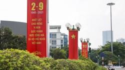 Ảnh: Đường phố Hà Nội rực rỡ sắc đỏ chào mừng Quốc khánh 2/9