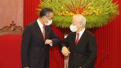 Ảnh: Tổng Bí thư Nguyễn Phú Trọng tiếp Ngoại trưởng Trung Quốc