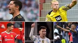 """Top 5 """"cỗ máy"""" ghi bàn năm 2021: Ai số 1?"""