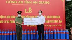 An Giang: 2.000 bình oxy, 50 tấn gạo hỗ trợ các khu điều trị F0 và người dân khu phong tỏa