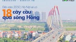 Chi tiết 18 cây cầu bắc qua sông Hồng Hà Nội