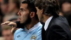 Mancini phủ nhận chuyện mâu thuẫn với Tevez