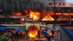 Chợ Quảng Ngãi cháy ngùn ngụt lúc rạng sáng