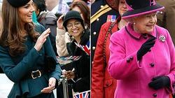"""Nữ hoàng Anh """"bị"""" Kate bắt chước từng li từng tí"""