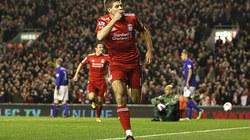 Gerrard lập hat-trick, Liverpool đại thắng Everton
